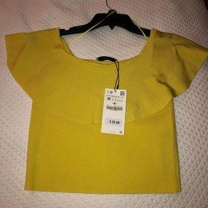 Zara off the shoulder knit top